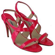 bad2b08bc43 Manolo Blahnik Hot Pink Strappy Heels Pink Strappy Heels