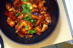 Honey Mustard and Teriyaki Wings