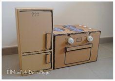 El Món Petit de la Pluja: DIY: Una Cocina con Cajas de Cartón 2º Parte: La N...