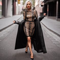 Ocstrade High Quality Women Fashion 2017 Hot New Arrival Sexy Black and Nude Mesh Long Sleeve Bodycon Dress Lace up Fashion Night, Party Fashion, Look Fashion, Fashion Models, Womens Fashion, Fashion 2017, Dress Fashion, Fashion Clothes, Fashion Trends
