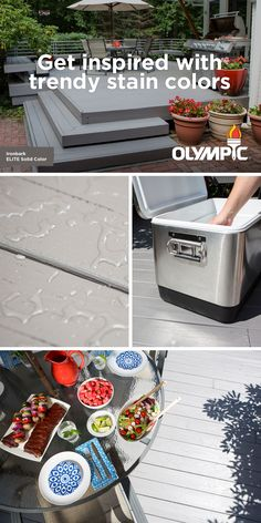 The summer sun can make your deck look drab. So take the opportunity to give it a stylish update! The grey tones of Olympic® ELITE Advanced Stain + Sealant in One in Ironbark can enhance the look of your deck with exceptional depth of color. Bring on the barbecues!