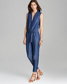 2a5e97ea07e0 Trina Turk Jumpsuit - Olimpia Chambray Women - Jumpsuits   Rompers -  Bloomingdale s