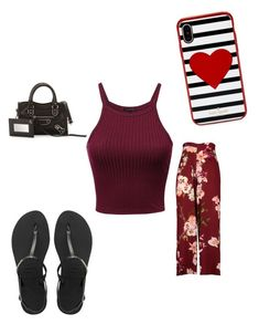 """""""reddish 🚨"""" by secretxx on Polyvore featuring Havaianas, Balenciaga and Kate Spade"""