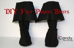 DIY Pirate Boots – iCandy handmade These go on over your boots. Might add a st… DIY Pirate Boots – iCandy handmade These go on over your boots. Might add a strap to the bottom so they dont ride up and look wierd Diy Pirate Costume For Kids, Homemade Pirate Costumes, Pirate Halloween Costumes, Diy Costumes, Halloween Diy, Costume Ideas, Toddler Girl Pirate Costume, Pirate Tutu, Female Costumes