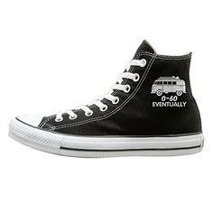 size 40 b5be7 142de JayKi Eventually Funny Bus V Dub Surf Women Men Canvas Sneaker Athletic  Shoes 43 Black Affordable