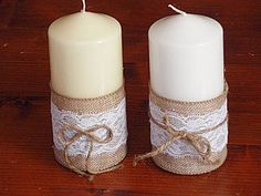 Svietidlá a sviečky - Vintage sviečky - 4388401_