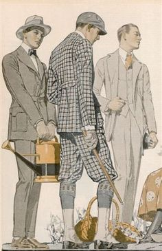 Well-dressed men 1910s