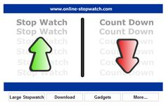 I use this every day!   online-stopwatch.com for full screen timers - digital, hourglass (sand) style and many more.