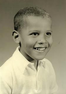Barack Obama as a child #Sepia #People