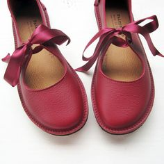 CUSTOM Hand Made Leather Shoes for Women LUNA by by Fairysteps, £134.00