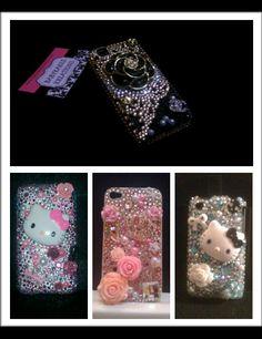 Custom Bling Cell Phone Case by babykakeskreations on Etsy