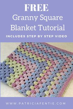 Using just one cake of yarn, learn to crochet this simple continuous granny squa. Using just one cake of yarn, learn to crochet this simple continuous granny square pattern. The res Granny Square Häkelanleitung, Granny Square Pattern Free, Granny Square Projects, Crochet Baby Blanket Free Pattern, Crochet For Beginners Blanket, Granny Square Crochet Pattern, Big Granny, Crochet Blocks, Crochet Granny Square Beginner