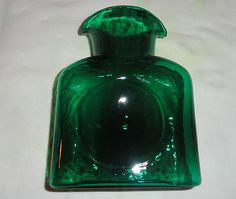 Blenko Glass Green Pitcher
