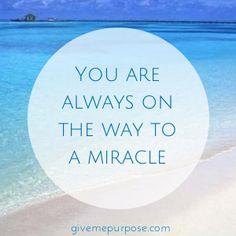 I love miracles...