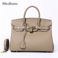 fbcc73b3956 New Arrival 2016 Women Genuine Leather Platinum Lock Bag Famous Brand  Designer Tote Handbags Real Leather Shoulder Bags