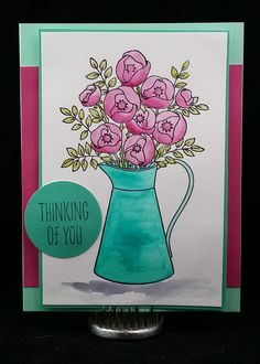 Amethystcat Designs: Stamping with Seleise: Watercolor Pitcher - July Collection