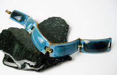 Vintage+Kay+Denning+Mod+Enamel+Bracelet+in+by+TampicoJewelry,+$155.00