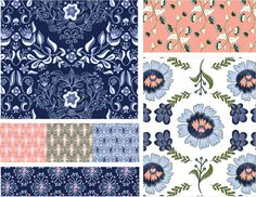 New Fabic Collection: Hilda — Very Sarie. Background, art, colors, pattern