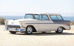 Best classic cars and more! 1956 Chevy Bel Air, Chevrolet Bel Air, Chevrolet Trucks, Chevrolet Impala, Car Tv Shows, Station Wagon Cars, Chevy Nomad, Volkswagen, Toyota