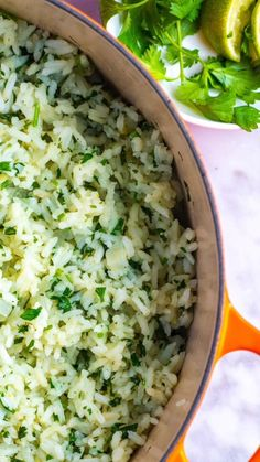 How to make delicious and flavorful cilantro lime rice that tastes even better than your favorite restaurants! How to make delicious and flavorful cilantro lime rice that tastes even better than your favorite restaurants! Healthy Rice Recipes, Rice Recipes For Dinner, Side Dish Recipes, Vegetarian Recipes, Cooking Recipes, Basmati Rice Recipes, Jasmine Rice Pilaf Recipe, Recipes Using Rice, Seasoned Rice Recipes