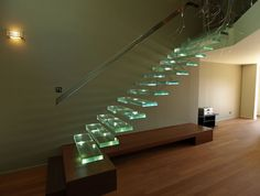 Escalier Cristaux eden verre encastré