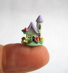 Miniature Whimsical Wee Cottage OOAK C Rohal | eBay