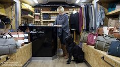 Small Independent Boutique in a Bus, travels across Southern England.