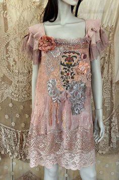 Antique garden bohemian romantic tunic от FleursBoheme на Etsy