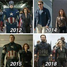 Steve - Natasha - Avengers - The Winter Soldier - Age of Ultron - Infinity War