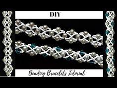 Jewelry Making Tutorial. 2 Beaded bracelets. - YouTube