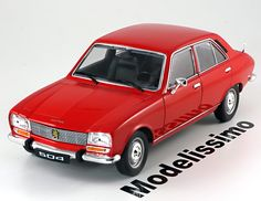 Peugeot 504 Limousine 1975, rot. Welly, 1/18, No.18001WR, Metall. Price (2016): 33 EUR.