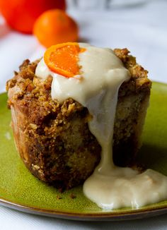 Coffee Cake Cinnamon Rolls. with orange cream frosting. vegan.
