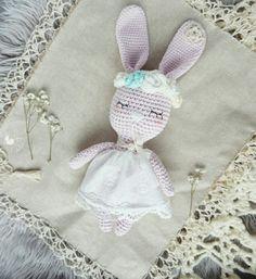 Bunny Klara💕 Amigurumi crocheted in boho vintage style🌸