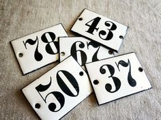 vintage French enamel numbers Available at AtticAntics, $14.50