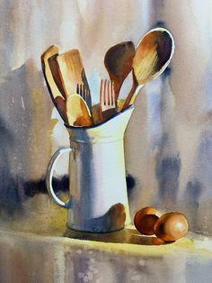 Still Life Drawing, Painting Still Life, Still Life Art, Watercolor Drawing, Watercolor Illustration, Watercolor Paintings, Papier Paint, Still Life Pictures, Guache