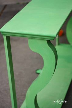 annie sloan paloma with antibes green painted furniture | Entry Table painted with Annie Sloan Antibes Green paint