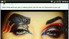 New england patriots eye makeup