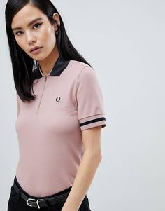 Order Fred Perry Vinyl Collar Pink Polo Shirt online today at ASOS for fast delivery, multiple payment options and hassle-free returns (Ts&Cs apply). Get the latest trends with ASOS. Striped Polo Shirt, Pique Polo Shirt, Polo Shirt Women, T Shirts For Women, Fred Perry Amy Winehouse, Fred Perry Polo Shirts, Embroidered Polo Shirts, College Shirts, Preppy Style