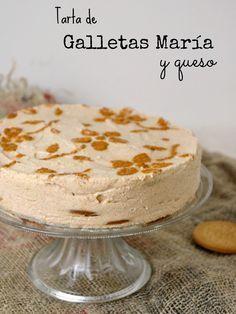 receta Tarta de galletas María y queso sin horno