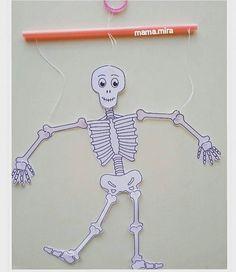 İskelet sistemi :) Our Body, Human Body, Montessori, Skeleton, Kindergarten, Education, Halloween, School, Kids