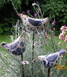 Bildergebnis für keramik vögel für den garten