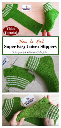 How to Knit Super Easy Unisex Slippers - Terry Rouvalis - - How to Knit Super Easy Unisex Slippers - Terry easy DIY knitting ideas - Page 8 of 16 - DIY StuffsDoing knitting at home is the best way to spend time. If you love to do knitting and a Vogue Knitting, Knitting Socks, Baby Knitting, Crochet Baby, Crochet Granny, Loom Knitting, Free Knitting, Easy Knitting Patterns, Knitting Projects