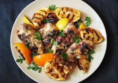 Simple, healthy marinades are a great way to get big flavor without added fat, like in this recipe for Citrus Grilled Chicken at Bon Appetit