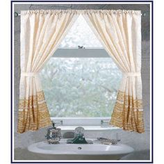 Ben and Jonah Whether or not you own the accompanying shower curtain, Fleur Curtain Panel elegant floral print will rejuvenate your bathroom. Fleur Curtain Panel is polyester and includes 2 machine-washable panels with tiebacks. Bathroom Window Curtains, Bathroom Window Treatments, Patio Curtains, Bathroom Windows, Grommet Curtains, Curtain Panels, Rod Pocket Curtains