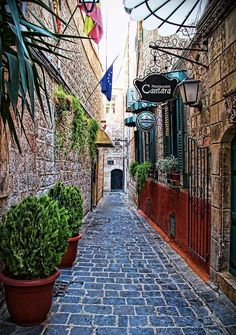 Old Street in Aleppo, Syria