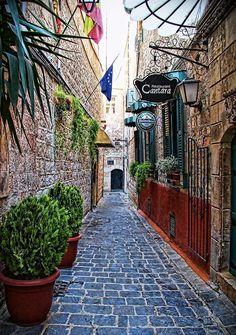 Calle vieja de Alepo, Siria