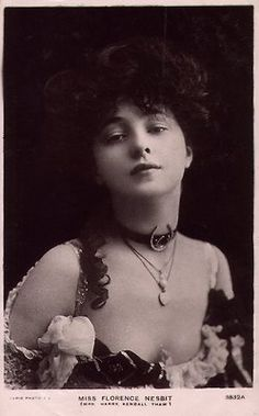 Edwardian American actress, Florence (Evelyn) Nesbit