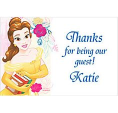 Custom Beauty and the Beast Thank You Note  Party City
