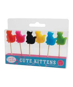 Cute Kitten Candle Set