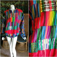 90's Guatemalan Jacket Rainbow Guatemalan Jacket Ikat